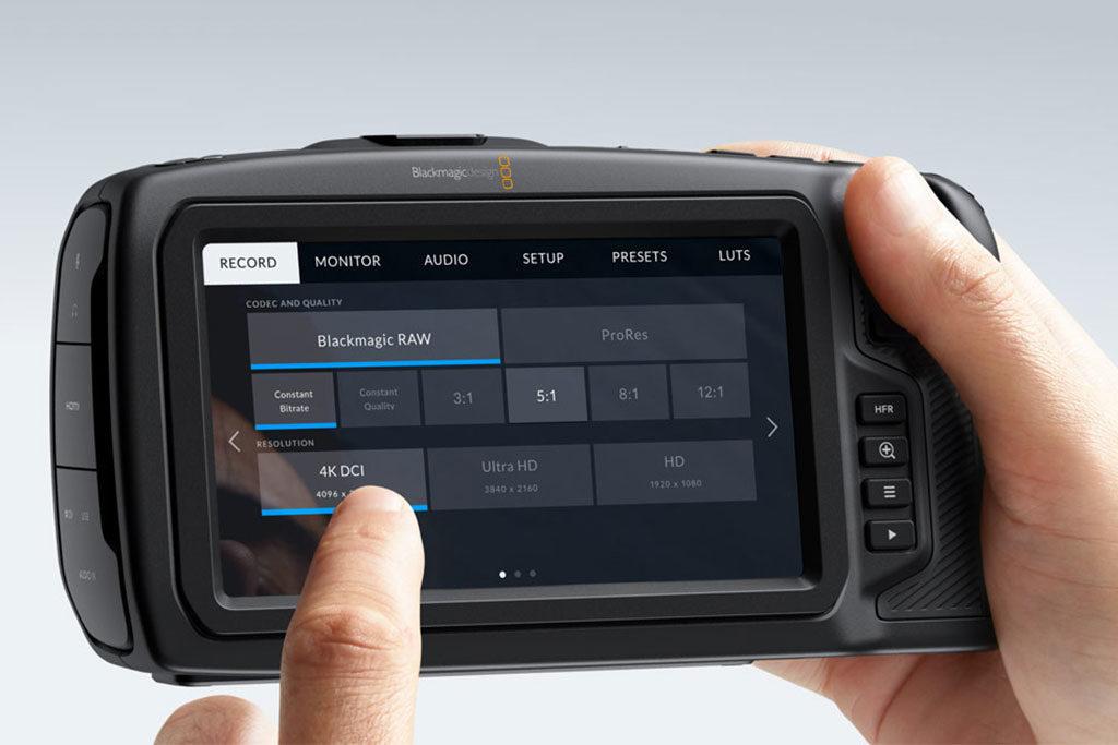 Blackmagic Pocket 4k Cinema Camera Touchscreen