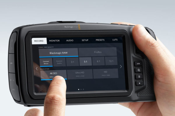 Blackmagic Pocket 4k Cinema Camera Touchscreen